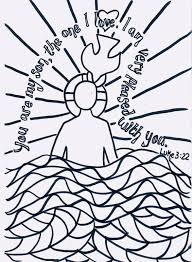 infant baptism coloring pages free jesus sunday