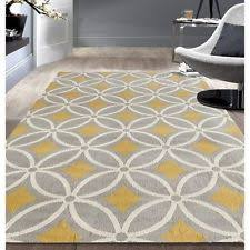 yellow area rugs ebay
