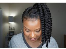 youtube crochet hairstyles on thinning hair how to 90 s inspired updo w faux twists on fine natural hair