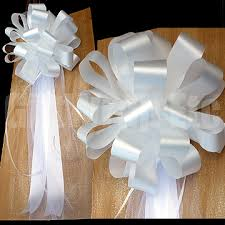 pew bows 10 white pew bows floral satin tulle wedding church party chair