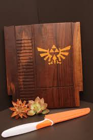 Unique Kitchen Gifts 12x13 Large Triforce Inlay 8bit Game Cartridge Cutting Board