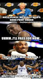 Funny Lakers Memes - i need to show this to all lakers and thunder fans by