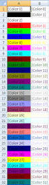 excel how to change defult colors used in vba code macro result