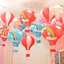 kids balloon delivery 5 pieces lot hot air balloon paper lantern diy drawing toys kids