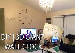 how i setup my giant 3d wall clock diy large wall clock youtube