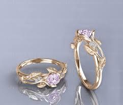 morganite gold engagement ring fleur 0 70ct morganite gold flower vine engagement ring