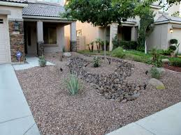 front yard desert landscaping ideas christmas lights decoration
