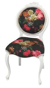 baroque floral accent chair chairish