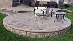 Cement Designs Patio Deck Designs Sted Concrete Patios Patio Patterns Colors Biondo