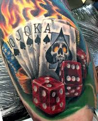 75 dice tattoos for the gambler s paradise of