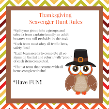 thanksgiving scavenger hunt squared