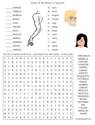 spanish body parts lessons tes teach