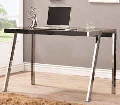Black Metal And Glass Computer Desk by Stylist And Modern Computer Desk With Clear Tempered Glass And
