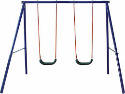 Flexible Flyer Lawn Swing Frame by Amazon Com Movement God Metal A Frame Two Seat Swing Set Toys