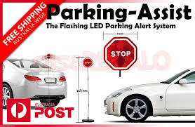 stop sign with led lights park n place stop sign led flashing light kit car parking aid guid