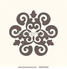 ornamental elements styletatar motif eastern stock vector