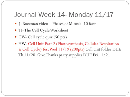 Mitosis And The Cell Cycle Worksheet The Cell Cycle Growth Division Of Cells Ppt