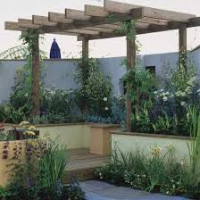 Wooden Pergola Designs by Small Garden With Wooden Pergola Wooden Pergola Small Gardens