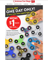 fidget spinners 1 christmas tree shops in store today 7