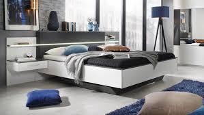 Schlafzimmer Komplett Bett Schwebet Enschrank Rauch Set Elissa Bett Nachttisch Schrank Weiß Graphit Mit Led