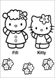 kitty coloring picture kids