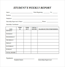 student report templates templates and samples