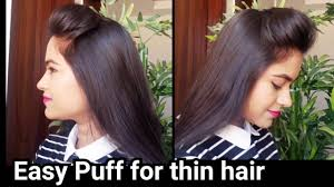 perfect puff for thin hair everyday quick easy puff hairstyles