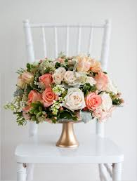 Pink And Gold Centerpieces by Best 25 Peach Wedding Centerpieces Ideas On Pinterest Peach