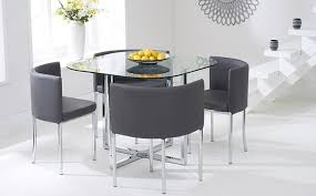Round Glass Top Dining Table Set Tables Trend Dining Table Set Round Glass And Cheap Retro Chairs