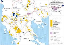 Balkan States Map by Megleno Romanian Language Wikipedia
