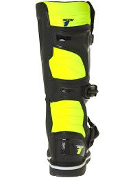 black motocross boots alpinestars black fluorescent yellow tech 1 mx boot alpinestars