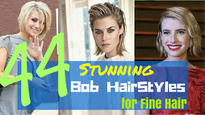 hairstyles for thin fine hair for 2015 44 stunning bob hairstyles for fine hair 2015 youtube