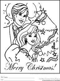 coloring pages christmas barbie u0026 ken coloring pages