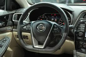 nissan sedan 2016 interior 2016 nissan maxima is lower longer and lighter autoguide com news