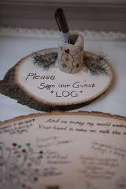 guest sign in ideas sign our guest log wood guestbook ideas 2521502 weddbook