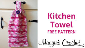 Now Designs Kitchen Towels Home Cotton Kitchen Towel Free Crochet Pattern Right Handed