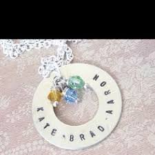 childs name necklace birthstone and diamond necklace with names silver or gold