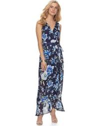 maxi size sweet deal on women s chaya ruffle floral maxi dress size 4 blue
