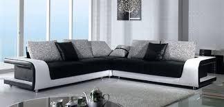 modern black and white leather sectional sofa black and white sectional sofa in top grain leather modern
