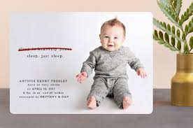 just sleep birth announcements by erin l wilson minted
