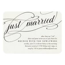 after wedding brunch invitation wording just married invitations announcements zazzle