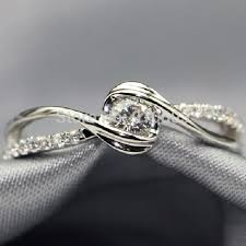 natural diamond rings images Natural diamond engagement ring 925 sterling silver platinum jpg