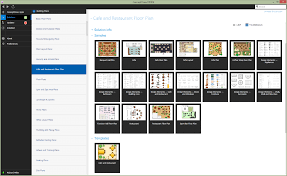 Cafeteria Floor Plan by Restaurant Floor Plans Software Design Your Restaurant And