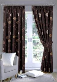 Brown Patterned Curtains Amazing Brown Patterned Decorative Curtain Ideas Image For