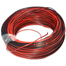 1meter 22awg 2 pin red black cable pvc insulated wire 22 awg