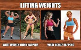 Woman Lifting Weights Meme - can women bulk with weights gfit