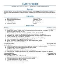 sample resume for construction laborer brilliant ideas of pipefitter apprentice sample resume for sample awesome collection of pipefitter apprentice sample resume on summary