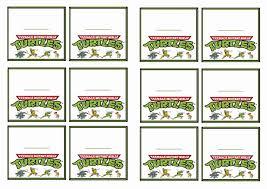 ninja turtles invites free printable invitation design