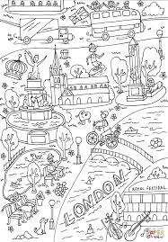 queen victoria memorial and cleopatra u0027s needle coloring page