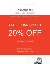 calvin klein offers from newsletters